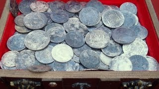 OMG! I Found A Huge Silver Treasure Hoard Metal Detecting! | Aquachigger