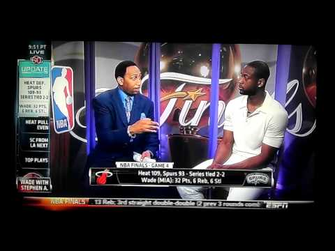 Dwyane Wade on Game 4 of the 2013 NBA Finals - ESPN Sport First Take