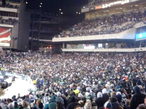 Snowball fight in Lincoln Financial Field!