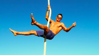 Rope Climb Tutorial by World Record Holder Marcus Bondi
