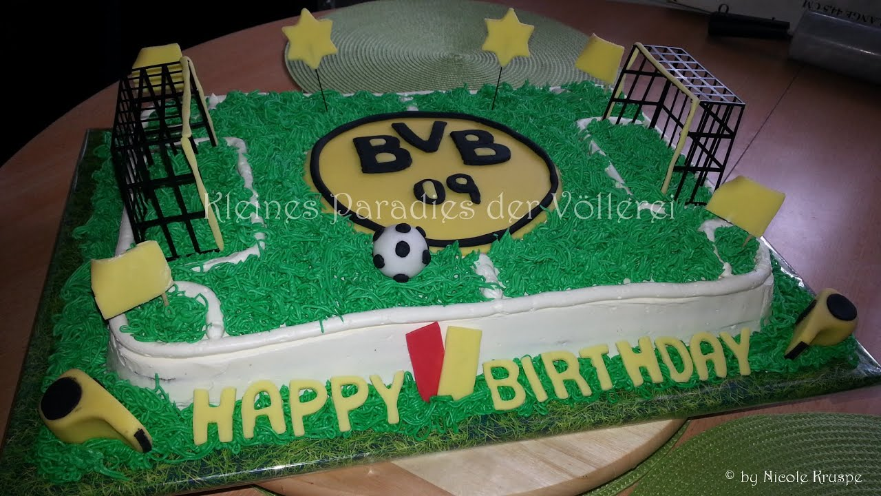 Bvb torte borussia dortmund youtube for Kuchen dortmund
