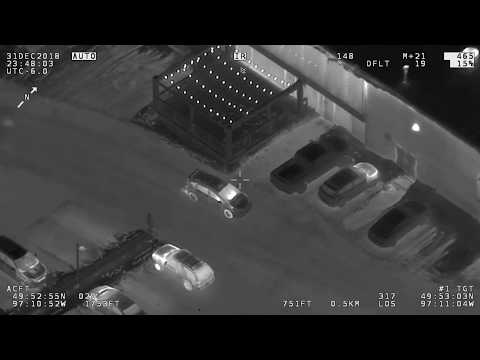Footage from AIR1 of three vehicle-related incidents from December 30-31, 2018