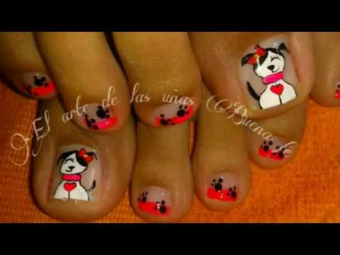 Decoraciones Hermosas Para Uñas De Los Pies Youtube