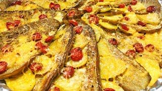 Deliciosa Berinjela Com Batata Assada