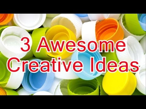 3 Awesome ideas with plastic Bottle Caps