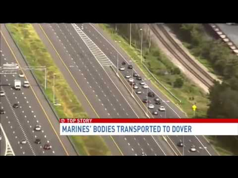 Marines' bodies transported to Dover