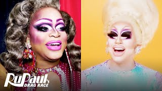 The Pit Stop AS6 E05   Trixie Mattel & Kennedy Davenport Dish at the Pink Table   RPDR All Stars