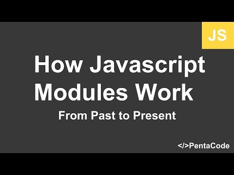 How javascript modules work – from past to present | Pentacode