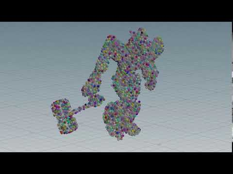 Houdini stick scatter points to a deforming model