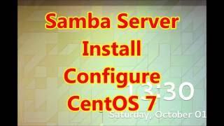 Samba Server Easy Install and Configure CentOS7