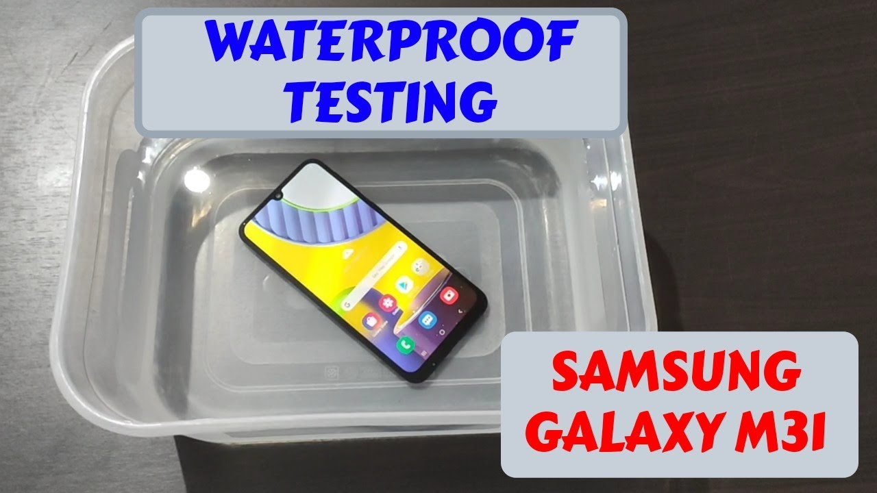 Samsung Galaxy M31 : Waterproof Testing (Shocking Result)