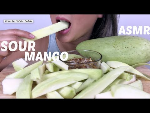 ASMR SOUR MANGO *Crunchy Eating Sound | N.E Let's Eat