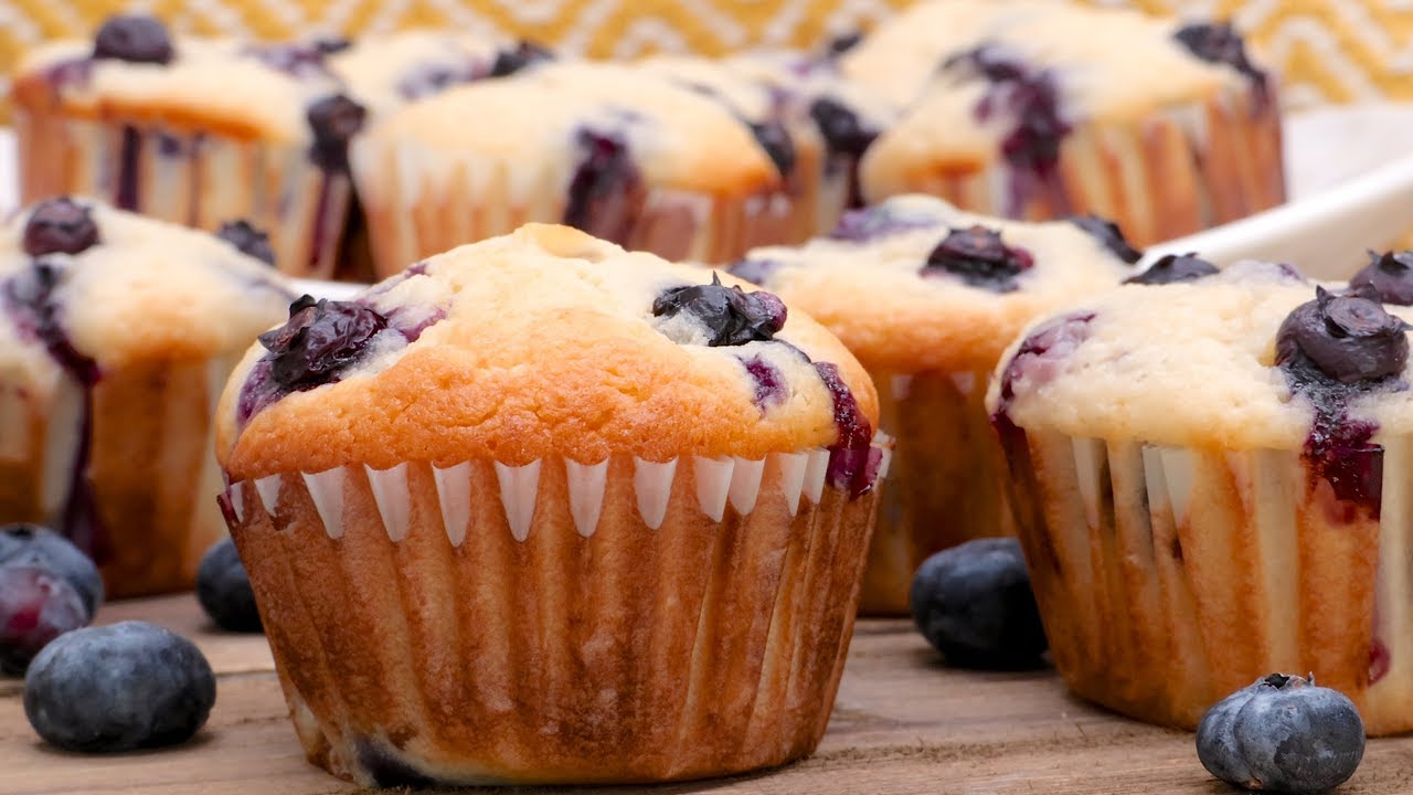 Blueberry Cream Cheese Muffins Recipe Youtube