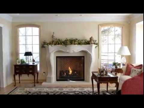 Complete fireplace remodel from Distinctive Mantels using the copyrighted Pachel stone mantel: http://distinctivemanteldesigns.com/portfolio-item/pachel