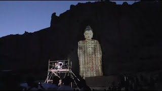 Image of Destroyed Bamiyan Buddhist Statue Recovered by Chinese with Lighting Technology