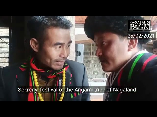 Sekrenyi festival celebration by the Angami community