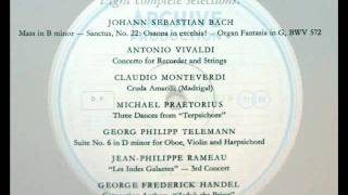 Vivaldi / Hans-Martin Linde, 1960: Concerto For Recorder and Strings, PV 79