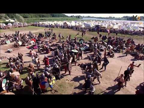 Bitwa Wojów - Wolin 2017 / dron/ Viking's Fight Wolin - dron
