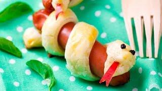 Рецепты на Хэллоуин: Сосиски-змейки