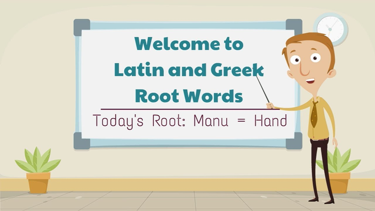 hight resolution of Latin and Greek Root Words: Manu \u003d Hand - YouTube