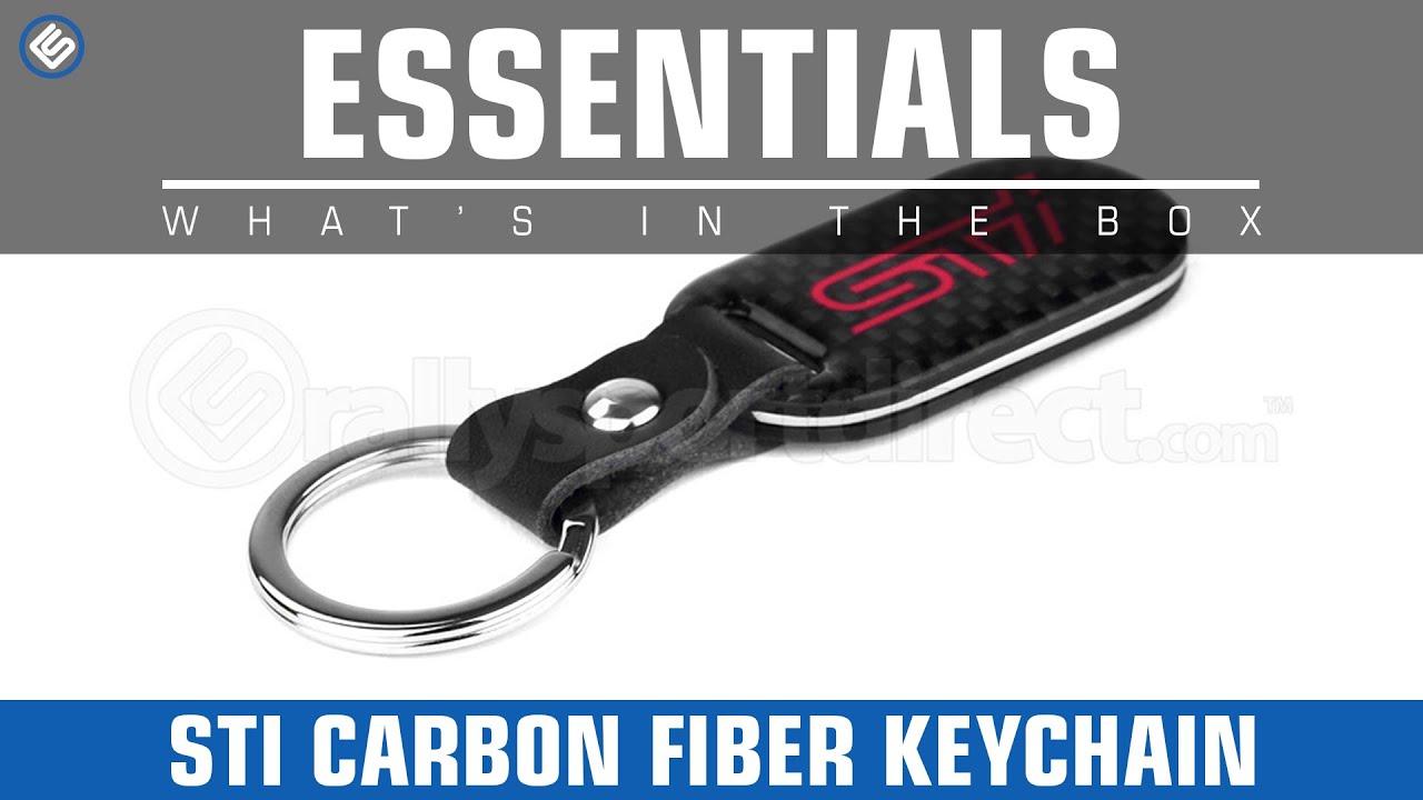 Subaru sti wrx carbon fiber keychain