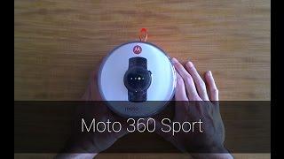 Moto 360 Sport Unboxing Español