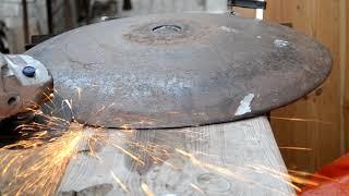 Садж ,сковорода из диска бороны .