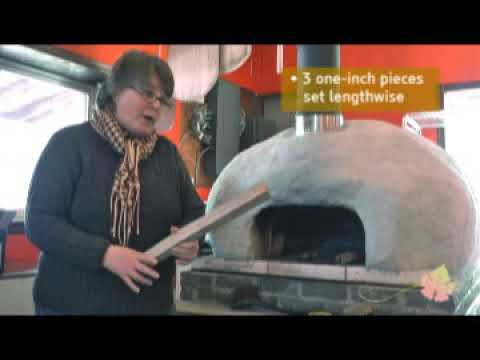 How to build a fire in a wood fired oven - tutorial