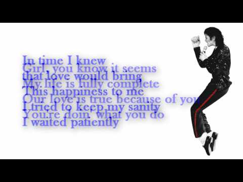 Michael Jackson - You Rock My World (Lyrics)