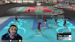 FlightReacts Plays His First NBA 2K21 Park Game & This Happened!