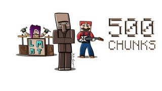 Repeat youtube video 500 Chunks Minecraft FanArt by HammyGraphics