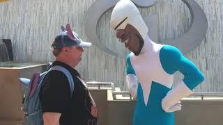 Meeting Frozone At Pixar Pier
