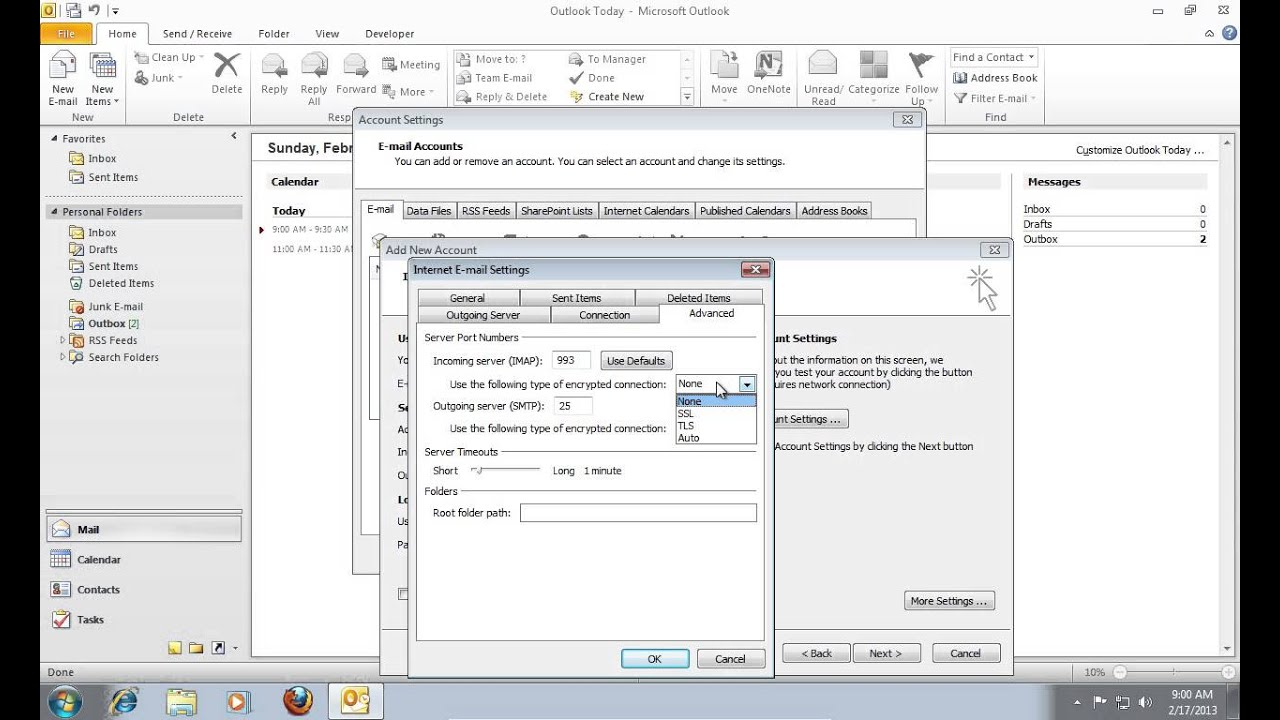 How to Set Up Outlook 2010 for Gmail