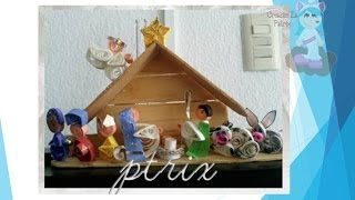 mini nacimiento en quilling  video