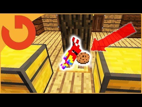 THIS PARROT FEEDS PLAYERS COOKIES! (Minecraft Mob Trolling S3E2)
