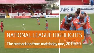 Halifax score free-kick from own half! | National League Highlights Show, 3rd August 2019
