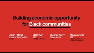 Building Economic Opportunities for Black Communities