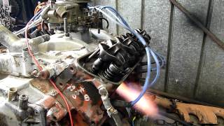 Flaming Final Run of A Worn Out Holden 253 V8