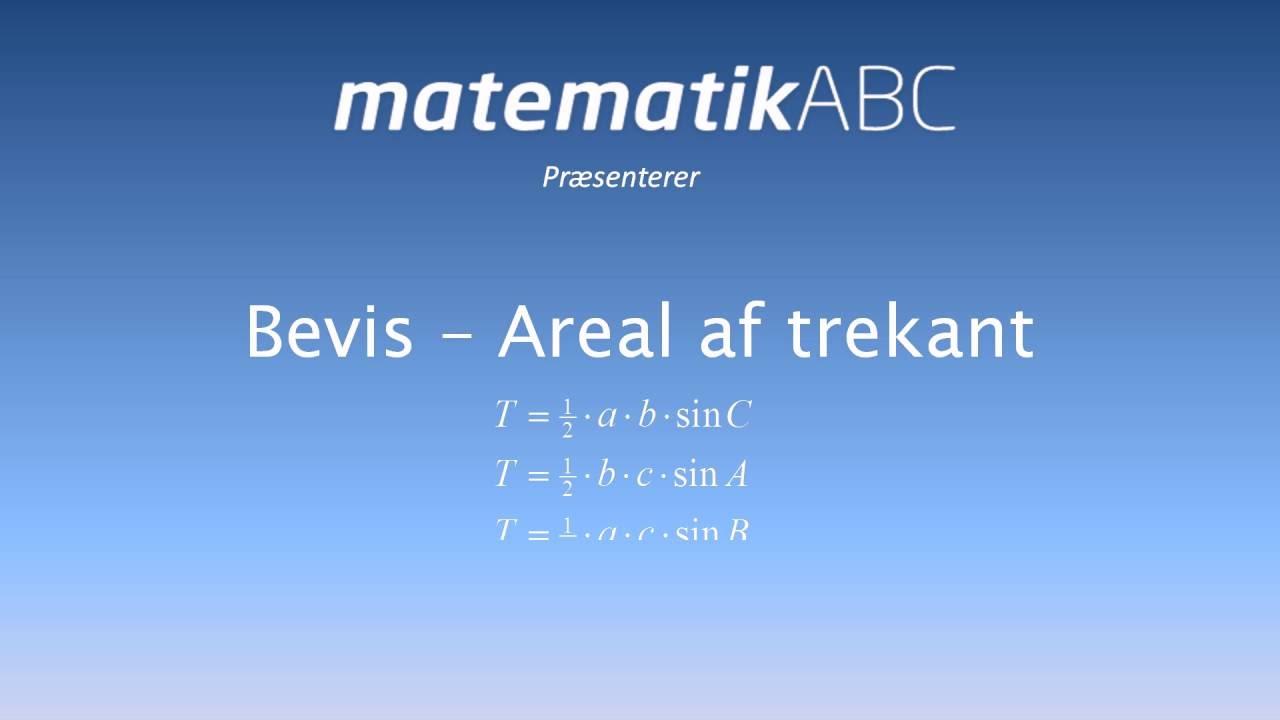 Bevis  - Areal af trekant