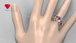 Bije.ru: Позолоченное кольцо с разноцветными кристаллами Swarovski Juniper (Джунипер)(, 2015-02-16T13:08:31.000Z)