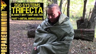 2GO Systems Trifecta: Survival Blanket/Bivy/Tarp Shelter PART1 - Preparedmind101