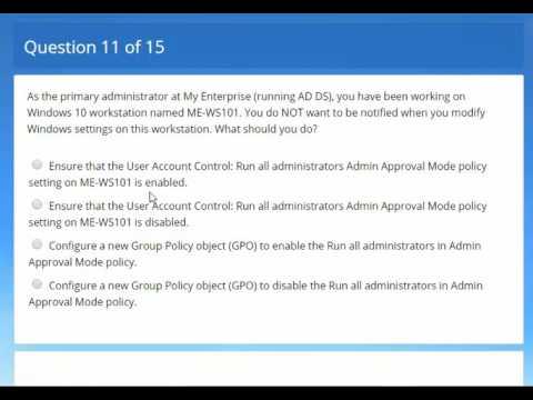 Test Exam Part 3 : 70-697: Configuring Windows Devices