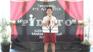 """Pidato """"Perpisahan Sekolah"""" oleh Christopher D."""