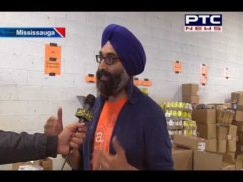Telus with Sewa Food Bank in Mississauga