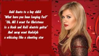 Kelly Carskon - Run Run Rudolph (Lyric Video)