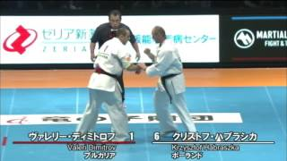 新極真会 The 11th World Karate Championship Men 3rd Round1 Valeri Dimitrov Vs Krzysztof Habraszka