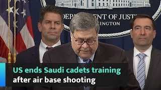 US ends Saudi cadets training after air base shooting