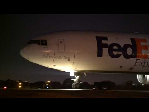 FedEx Morning Rush full video.  Boeing, airbus, 777, md11, md10. Take off, taking off. Airplane