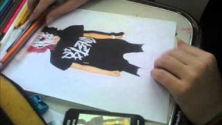 Drawing DJ Bl3nd! MiXFdX (electro house)