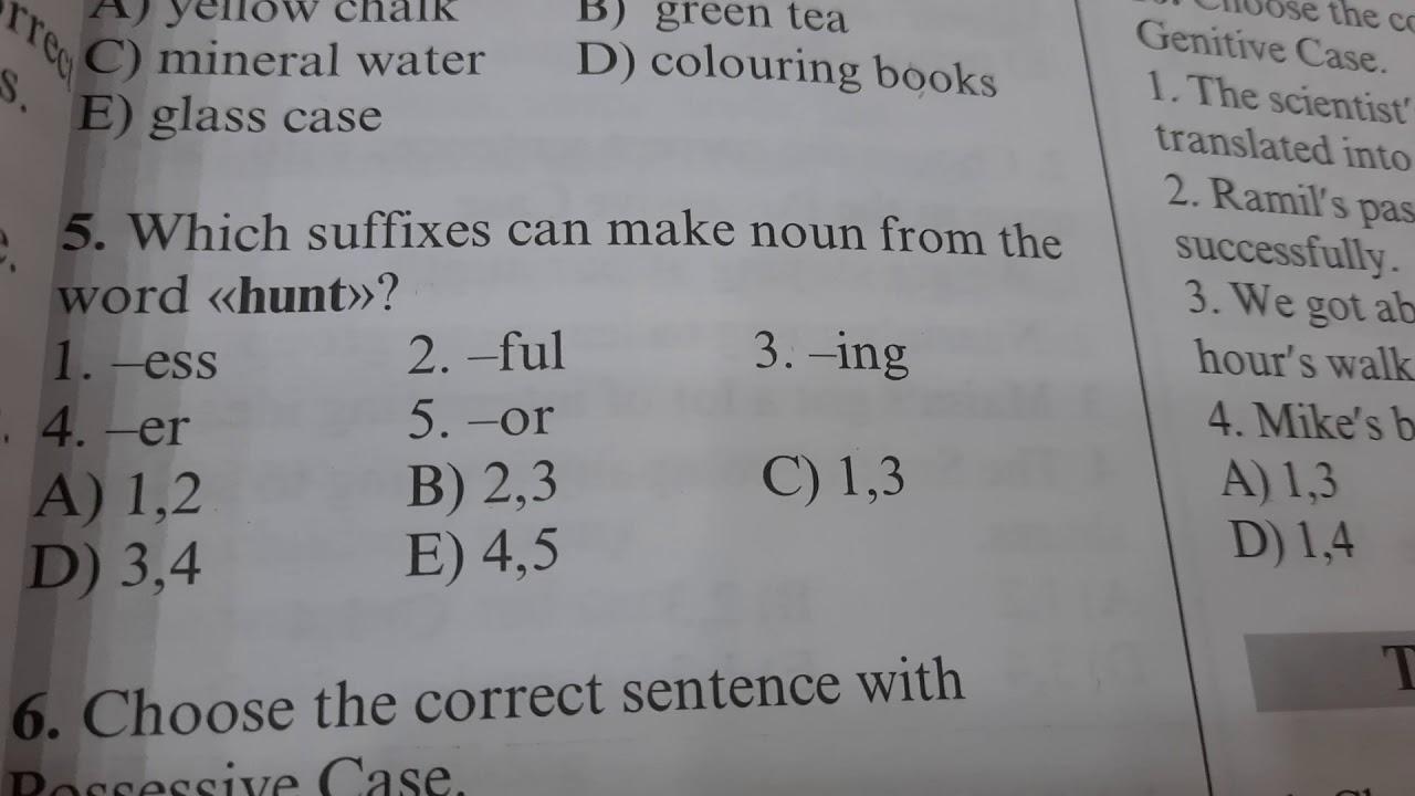 The Noun  Tests 11,12